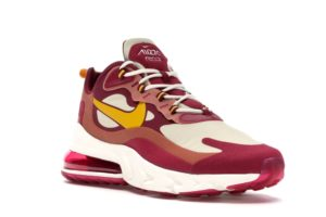 Air Max 270 React Noble Red Team Gold